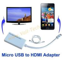 Buy cheap MHL Adapter with Micro USB to HDMI for Samsung Galaxy S2 9100, Samsung Infuse 4G phone, HTC Sensatio from wholesalers