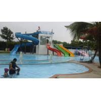 500 SQM Custom Straight Fiberglass Kids Water Slides For Swimming Pools in Outdoor Manufactures
