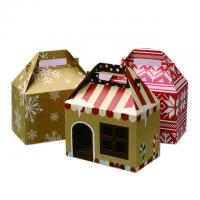 China Candy Gable PVC Window Box Packaging With 4c Printing Christmas Holiday on sale