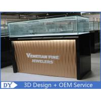 Buy cheap Custom Modern Design Glass Jewellery Shop Display Counters With led lights from wholesalers