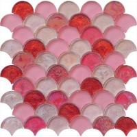 Blend pink lady series water waving glass mosaic Manufactures
