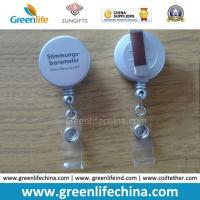 Buy cheap High Quality Customized Plastic Shell Silver Colored ID Badge Holder from wholesalers