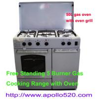 Buy cheap Free Standing 5 Burner Gas Cooking Range with Oven from wholesalers