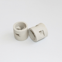 Buy cheap 16mm, 25mm,38mm, 50mm Ceramic Pall Ring Tower Packing For Adsorption Column from wholesalers