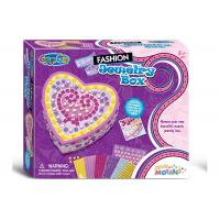 Buy cheap DIY Sticky Jewelry Box Arts And Crafts Set W / Glitter Gems Beads Age Five product