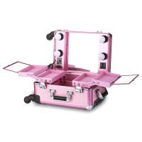 Buy cheap OEM ODM Pink Cosmetic Beauty Case , Professional Makeup Cases On Wheels from wholesalers
