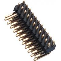Wholesale 1.27 Mm Pin Header Right Angle high temperature plastic DIP H=1.5  PA9T black UL94V-0 from china suppliers