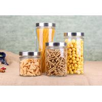Cylinder Glass Jar Container Noodle Storage Dry Food Glass Jars Kitchenware Set