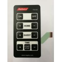 Buy cheap Flatten Tactile Membrane Switch Panel With Silk Screen Print / Nine Keys from wholesalers