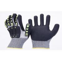 Buy cheap Sandy Nitrile Coated Mechanic Work Gloves XS - XXL Size For Construction from wholesalers