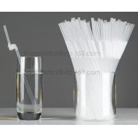 Buy cheap Disposable cute plastic white straight drinking straw, PLA individually wrapped drinking Straws, PLA straws disposable product