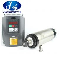 Buy cheap ER16 Water Cooled Spindle CNC Motor , 110V / 220V Inverter Kit Φ80 1.5KW from wholesalers