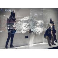 Buy cheap Custom Window Display Decorations White Color Fiberglass Wing Statue from wholesalers