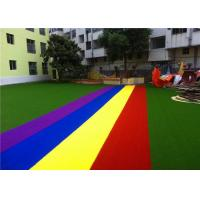 Buy cheap Non Infill Needed Safe Artificial Grass , Artificial Grass Play Area For Kids from wholesalers