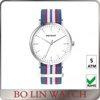 Buy cheap Big Face Mineral Glass Minimalist Automatic Watch With Nylon Band from wholesalers