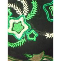 Buy cheap Multicoloured Embroidered Nigerian Lace Fabrics Flower For Shoes from wholesalers