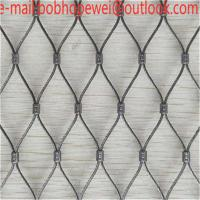 Buy cheap wire rope net/stainless steel cable net/rope fence netting/rope mesh netting/steel cable netting/wire rope end fitting from wholesalers