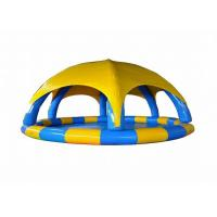 Buy cheap Funny Attractive  Large Inflatable Swimming Pool With Inflatable Tent For Water Games from wholesalers
