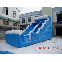 Buy cheap 0.55mm PVC tarpaulin Commercial Inflatable Slides, Wave Slide By Double Stitching YHS 021 from wholesalers