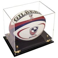 Buy cheap Customized Acrylic Rugby Ball Display Box / Clear Acrylic Box Display Cases from wholesalers