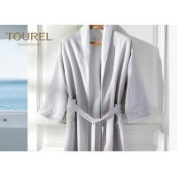 Buy cheap Embroidered Luxury Hotel Quality Bathrobes Cotton Quilted For Travel from wholesalers