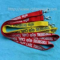 Buy cheap Imprint polyester neck ribbon strap lanyards for promotional events, from wholesalers