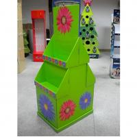 Buy cheap 2 tier colorful graphic cardboard display stands / POP display racks for exhibit,  shop from wholesalers
