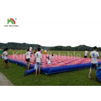 Buy cheap Red Outdoor Obstacle Course Inflatable Sport Games , Inflatable 5K Run Races For Adults from wholesalers