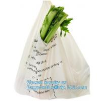 China ECO-friendly high quality compostable towel Packing bags with customized design, t shirt Compostable plastic bag on sale