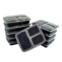 Buy cheap pp 3 compartment takeaway plastic food container from wholesalers