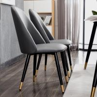 Buy cheap Luxury High Back Leather Dining Room Chairs With Metal Legs Custom Design from wholesalers