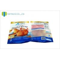 Frozen Food Stand Up Pouch Packaging Transparent Window Front Matte Printed Manufactures