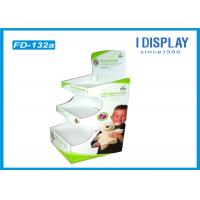 Three Tiers Trapezoid Cardboard Pallet Display , Plush Toys Retail Display Shelves Manufactures