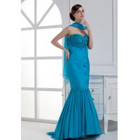 Full flower sweetheart sheath pleated silk long evening dress wholesale Manufactures