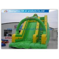 Buy cheap Kubus Theme Green Inflatable Dry Slide Trampoline Slide For Commercial Party from wholesalers