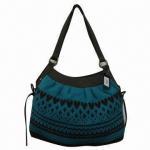 Buy cheap Jacquard Handbag with PU Handle, Made of Acrylic Yarn from wholesalers