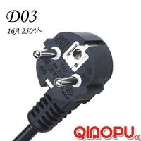 Buy cheap Euro Standard AC Three Wire 90 Degree Angle Power Cord from wholesalers