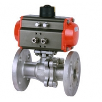 Buy cheap Flange 8bar Pneumatic Ball Valve 4.0MPa RQ4P1FP16-Q With WCB Actautor from wholesalers