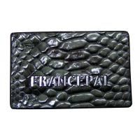 Buy cheap Snake Skin Embossed Leather Patches Smooth Edge embossed leather labels from wholesalers