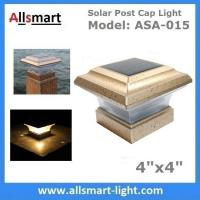 Buy cheap 4x4 inch Apricot Solar Post Cap Lights Solar Deck and Fence Lights 4 Gate Posts Lamps Outdoor Solar Pillar Lights from wholesalers