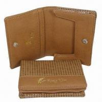 Wholesale Business Name Card Cases, Made of Grain PU, Comes in Fashionable Design, Measures 10 x 8cm from china suppliers