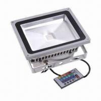 Wholesale High-power 20W Waterproof LED Floodlight, RGB Color, with Remote Control, IP65 IP Grade from china suppliers