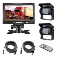 Buy cheap Waterproof Truck Vehicle Backup Camera System 7 Inch Quad Monitor 2pcs from wholesalers