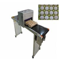 Buy cheap 600DPI Egg Date Stamp Machine / Inkjet Marking Machine With High Performance from wholesalers