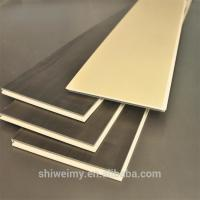 Buy cheap Solid color flat surface wood garin WPC laminating flooring tile from wholesalers