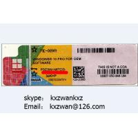 Wholesale Windows 10 license coa sticker, brand new oem coa label with online key Manufactures