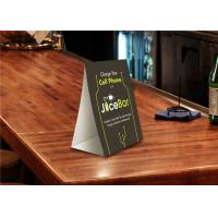 Buy cheap Custom Plastic PVC Sign Holder Table Top Tent Card 2 Sided / 3 Sided Printing from wholesalers