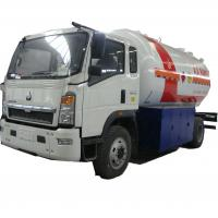 Buy cheap hot sale!high quality SINO TRUK HOWO 10,000Liters lpg gas refilling truck, lpg gas truck for domestic gas cylinders from wholesalers