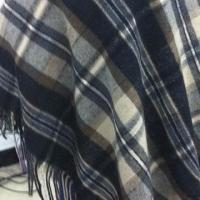 Buy cheap Wool Blended Plaid Fabric for Cape and Muffler, Finished Fabrics have Fringed product