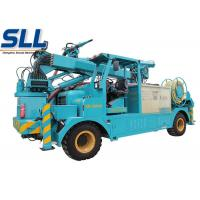China Wet mix concrete sprayer trailer robot arm electric motor and diesel two-motor drive on sale